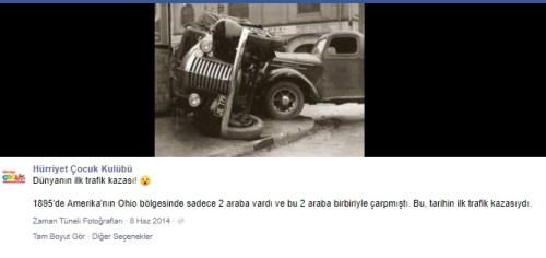 dünyanın ilk trafik kazası