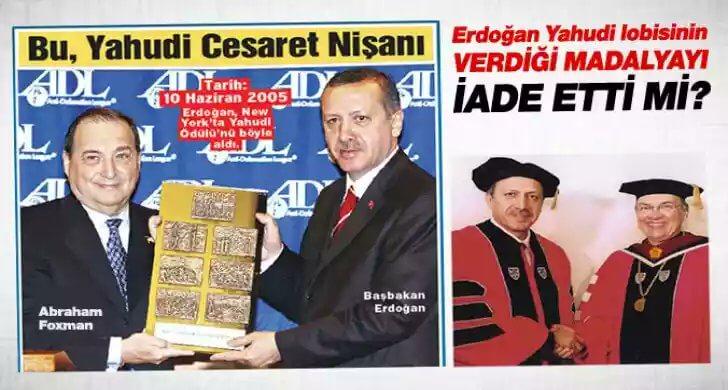 erdoğan yahudi cesaret madalyası