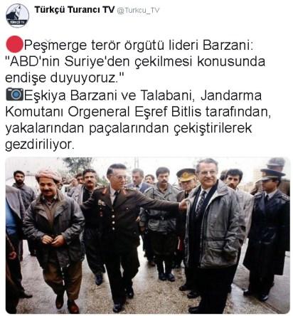 Şehit Orgeneral Eşref Bitlis'in Talabani'yi Yakasından Çekerek Barzani'yi Sırtından Dürterek Silopi'de Dolaştırdığı İddiası