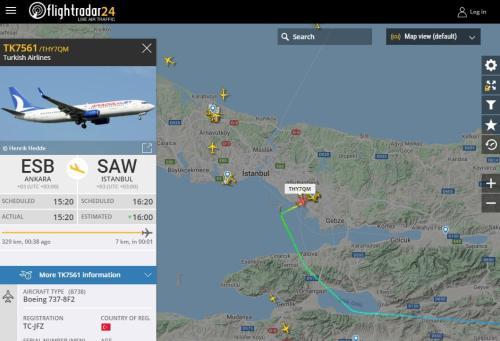 flight radar anadolu jet