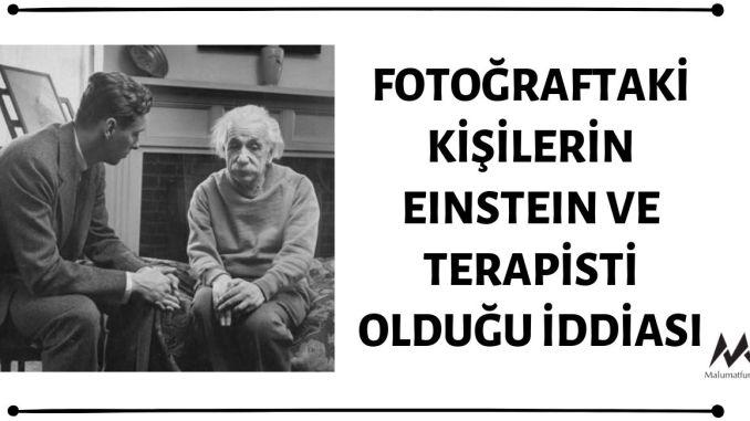 Fotoğrafın Einstein'ı ve Terapistini İçerdiği İddiası Doğru Değil