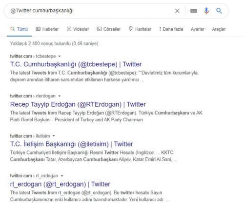 google Sosyal Medyada Arama
