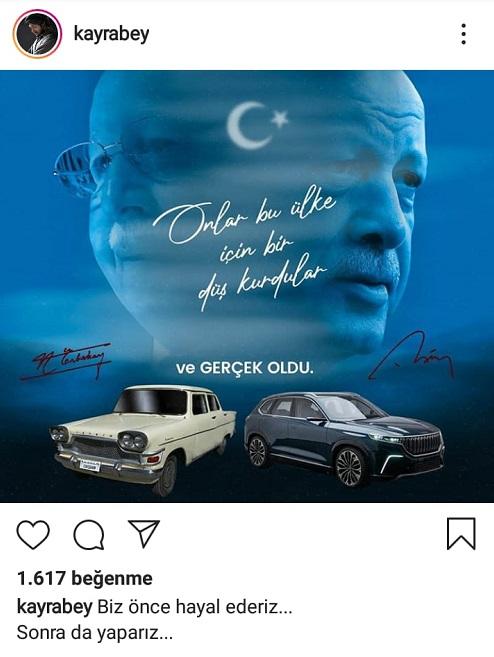 Türkiye'nin ilk yerli otomobili Devrim'i Necmettin Erbakan'ın eseri olduğunu öne süren paylaşım