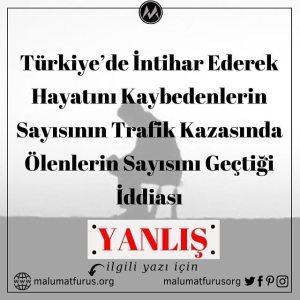 türkiye'de intihar sayısı