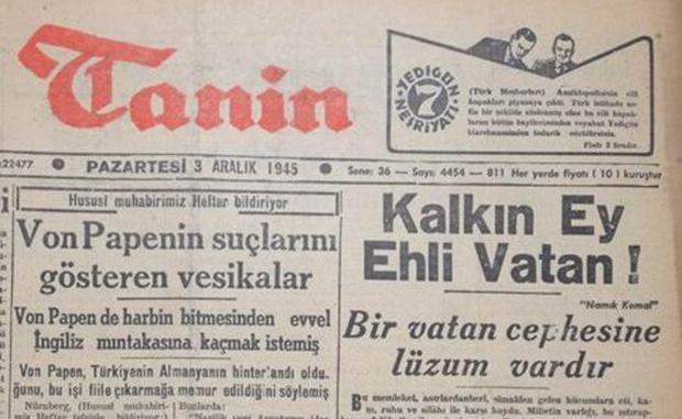 "Namık Kemal'in ""Kalkın Ey Ehli Vatan"" Sözü"