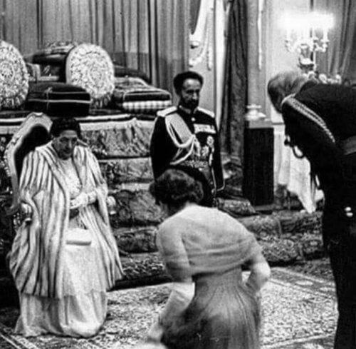 kraliçe ikinci elizabeth haile selassie