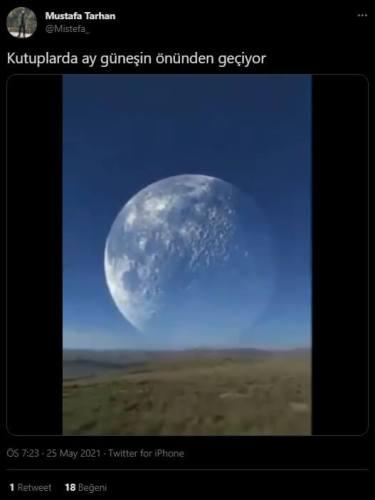 kutuplarda ay güneşin önünden