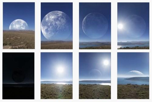 kutuplarda ay