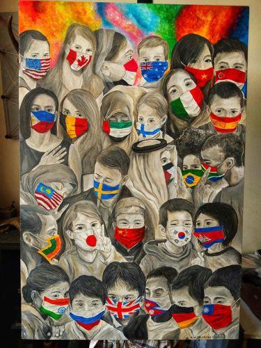"""Filipinli sanatçı CJ Trinidad'a ait """"Maskcommunication"""" isimli çalışma"""