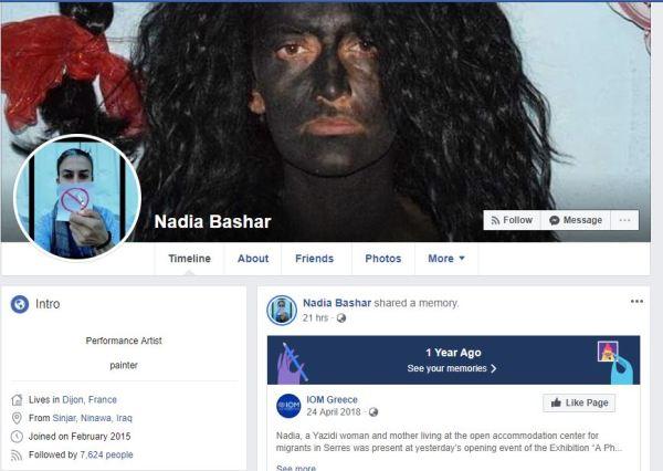 Nadia Bashar'ın Facebook profili