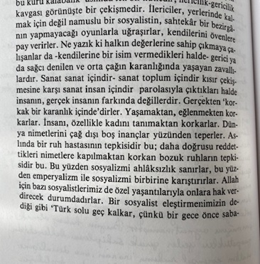 Oğuz Atay Türk solu geç kalkar