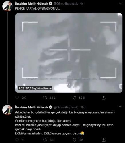 pençe kaplan harekatı görüntüsü sanılan video paylaşımı