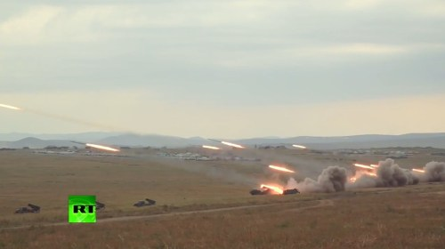 rusya roket tatbikatı