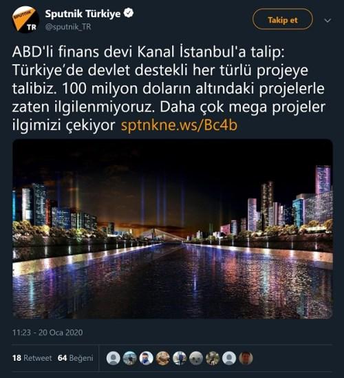 Sputnik Türkçe'nin Money Maker Management adlı şirketi ABD'li finans devi ilan ettiği paylaşımı