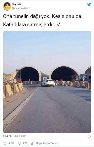 tünelin dağı yok