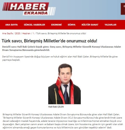 türk savcı birleşmiş milletlerde