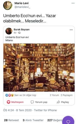 umberto eco kütüphanesi
