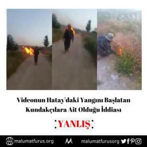video hatay yangını