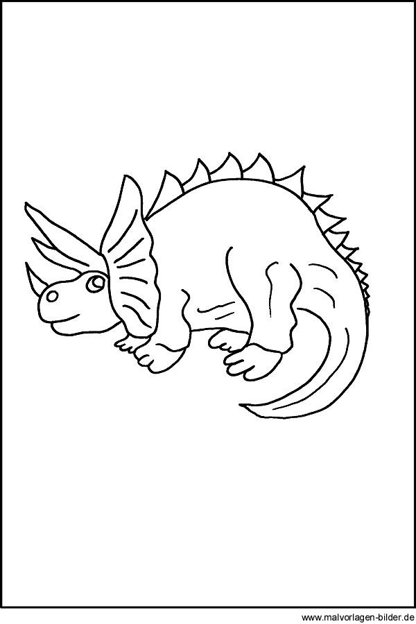 Dinosaurier Kostenlose Malvorlage Fr Kinder