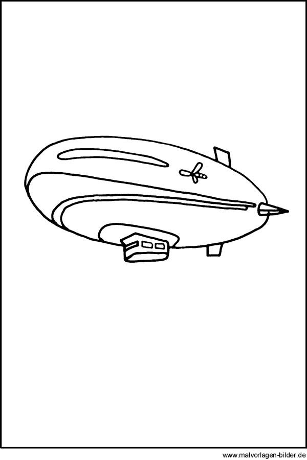 Zeppelin Kostenlose Ausmalbilder Fr Kinder