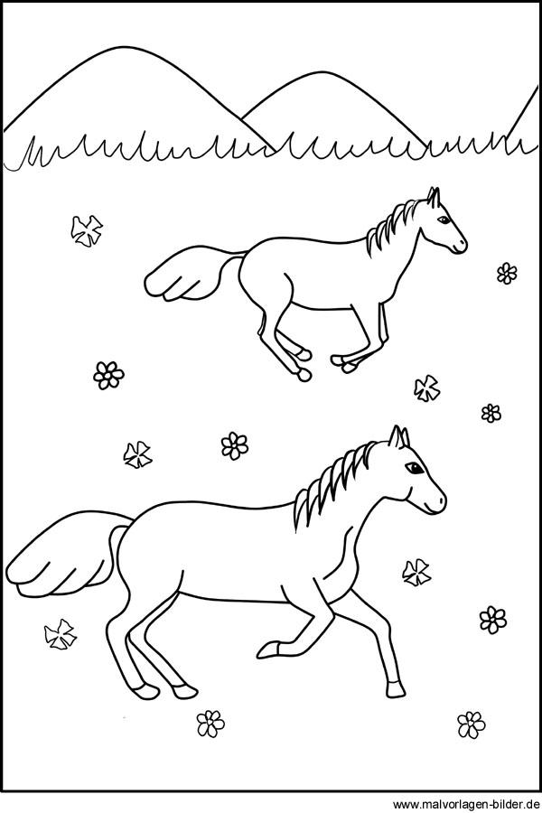 Pferde Ausmalbilder Fr Kinder Zum Ausdrucken
