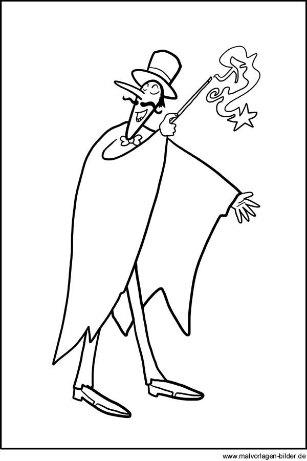 Gratis Malvorlagen Zauberer Malbilder Zum Ausdrucken