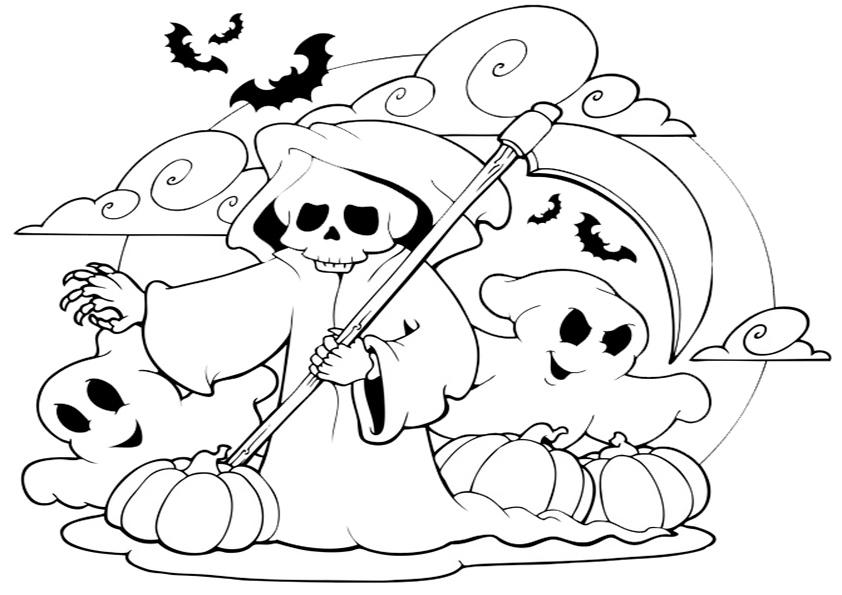 Ausmalbilder Kostenlos Niedliche Ausmalbilder Fr Halloween
