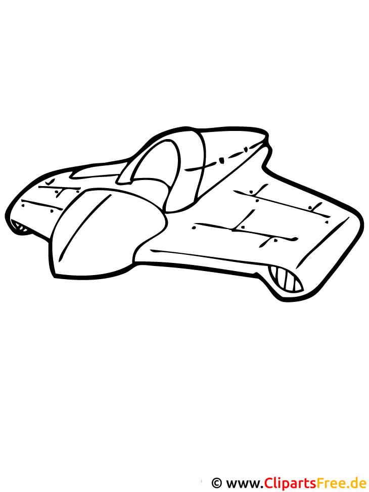 Ausmalbild Raumschiff