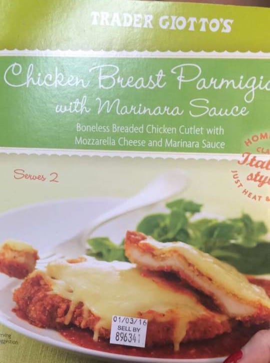 trader joe's chicken parm macro