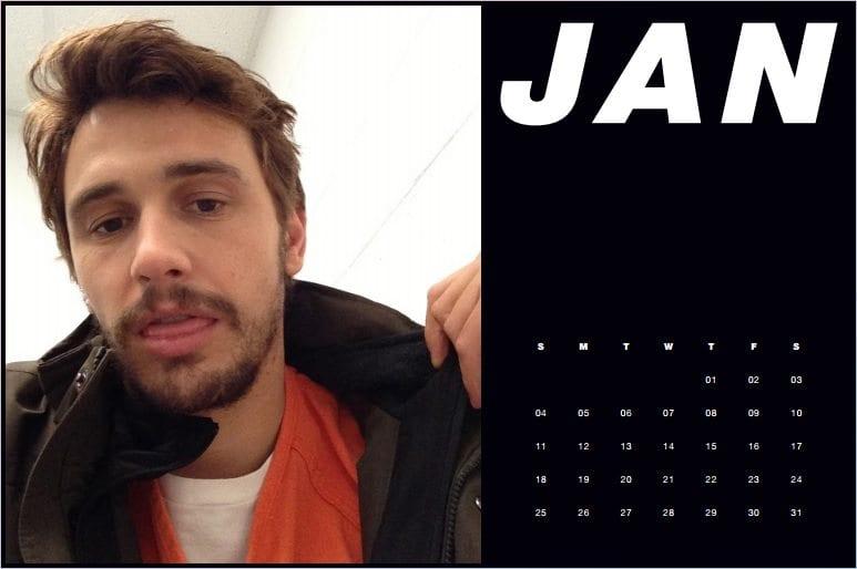 8a34eb7b24 Papermag e il calendario 2015 con i selfie di James Franco