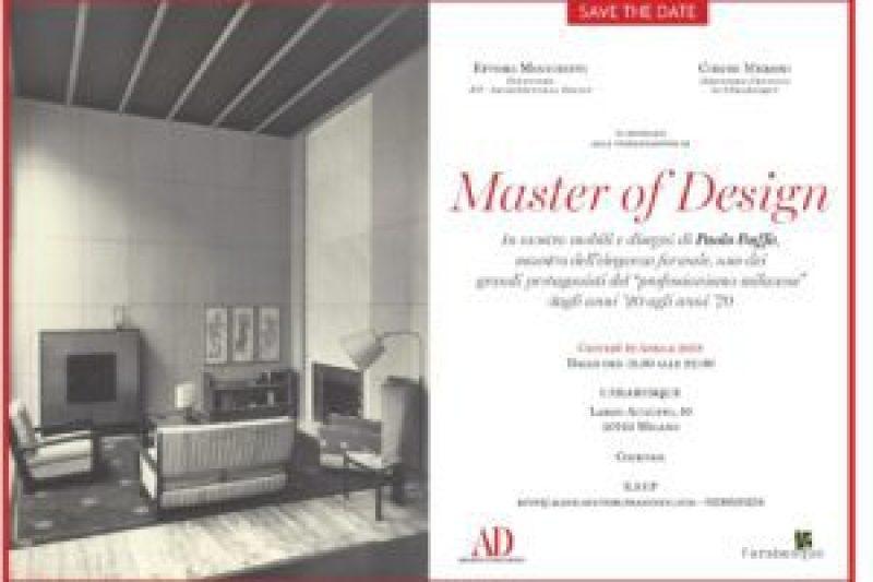 mam-e design MASTER OF DESIGN UN OMAGGIO A PAOLO BUFFA invito