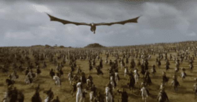 mam-e spettacolo BATTAGLIA DA RECORD PER GAME OF THRONES drago