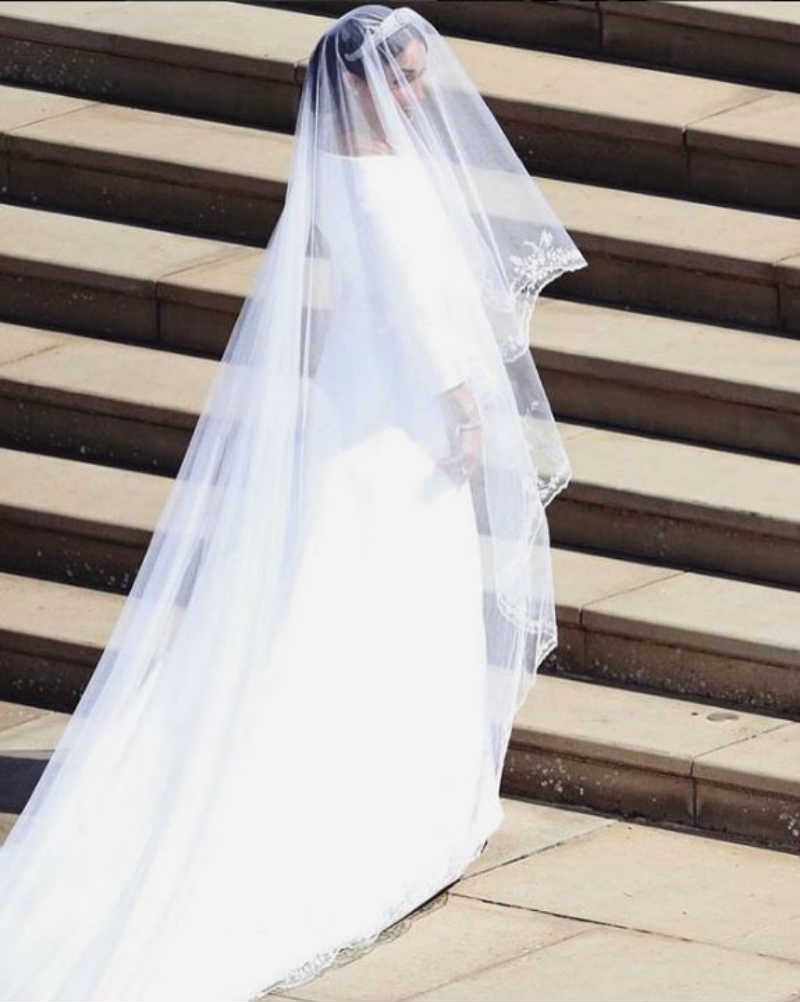 Mame Moda Auguri a Meghan Markle e al principe Harry, oggi sposi. Abito Meghan