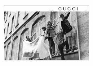 Mame Moda Gucci saluta Milano, a settembre sfilata a Parigi. ADV 2018 Gucci