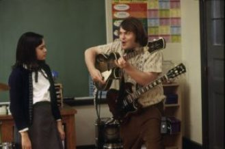 mame cinema SCHOOL OF ROCK - JACK BLACK STASERA IN TV scena