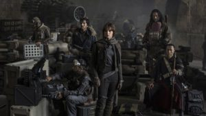 mame cinema ROGUE ONE A STAR WARS STORY - STASERA IN TV scena
