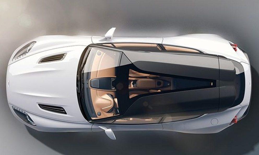 Aston Martin Vanquish Zagato Shooting Brake vista dall'alto