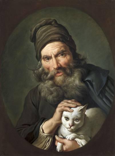 """Mame arte Gli animali nell'arte. Dal Rinascimento a Ceruti""""giacomo_ceruti_vecchio_con_gatto_1740_circa"""