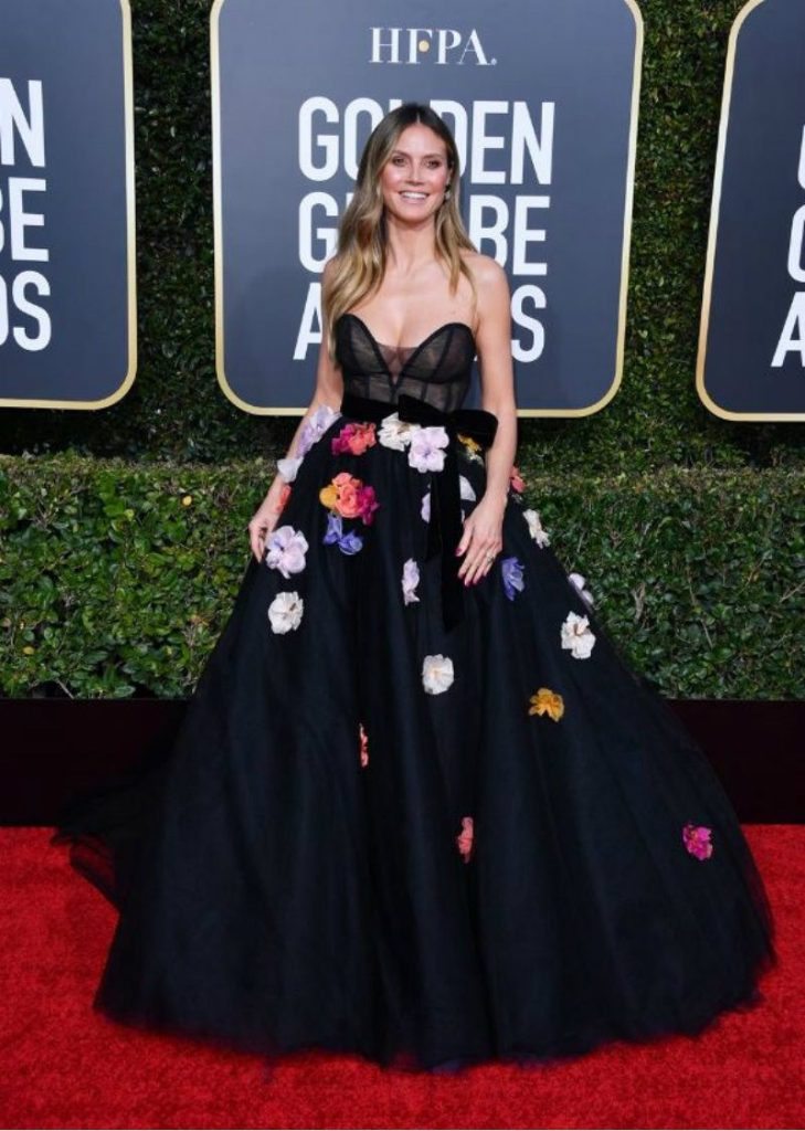 Golden Globe 2019, i look del red carpert. Hedi Klum