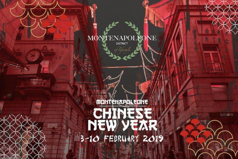 MonteNapoleone District Chinese New Year. manifesto evento