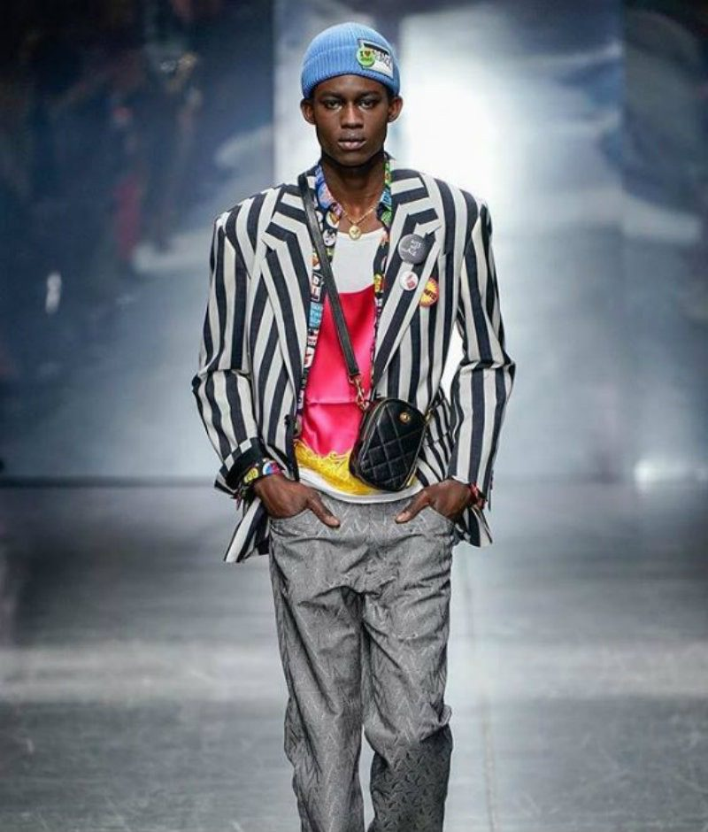 Versace Uomo - il flop d'americana. Giacca a righe