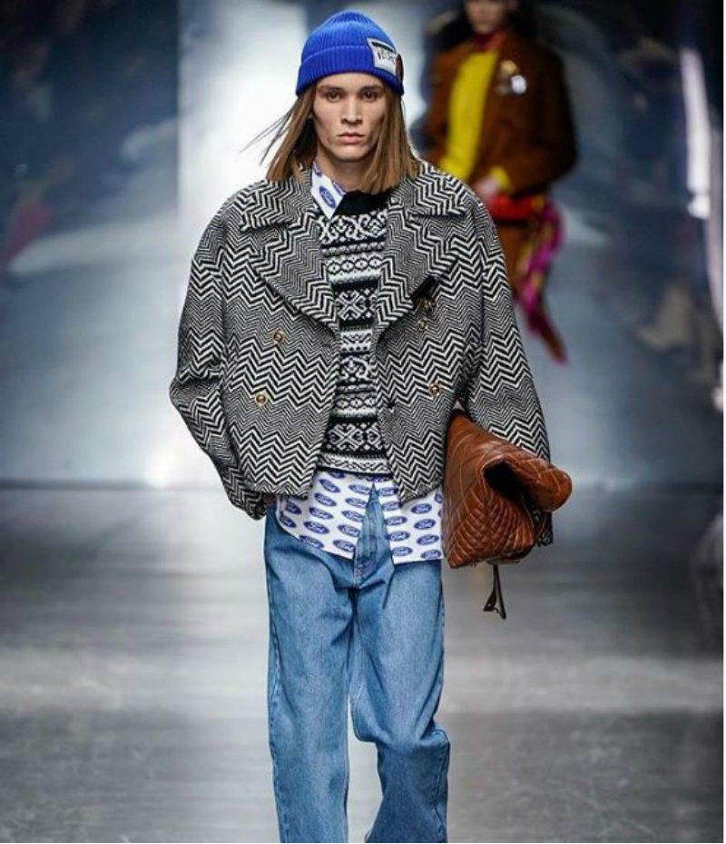 Versace Uomo - il flop d'americana. look anni Novanta