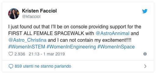 Passeggiata spaziale al femminile