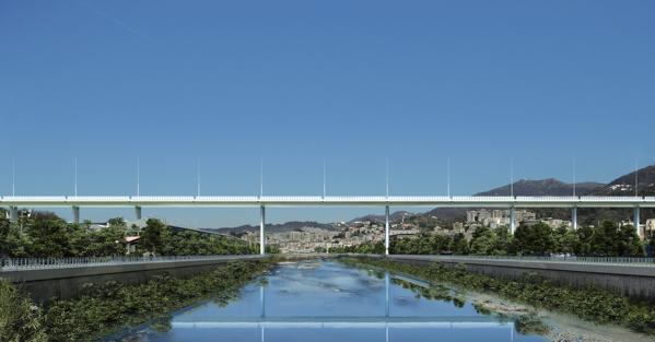Fotoinserimento del progetto di Renzo Piano