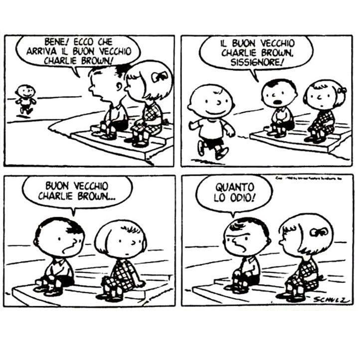 Spettacolo: La prima striscia dei peanuts
