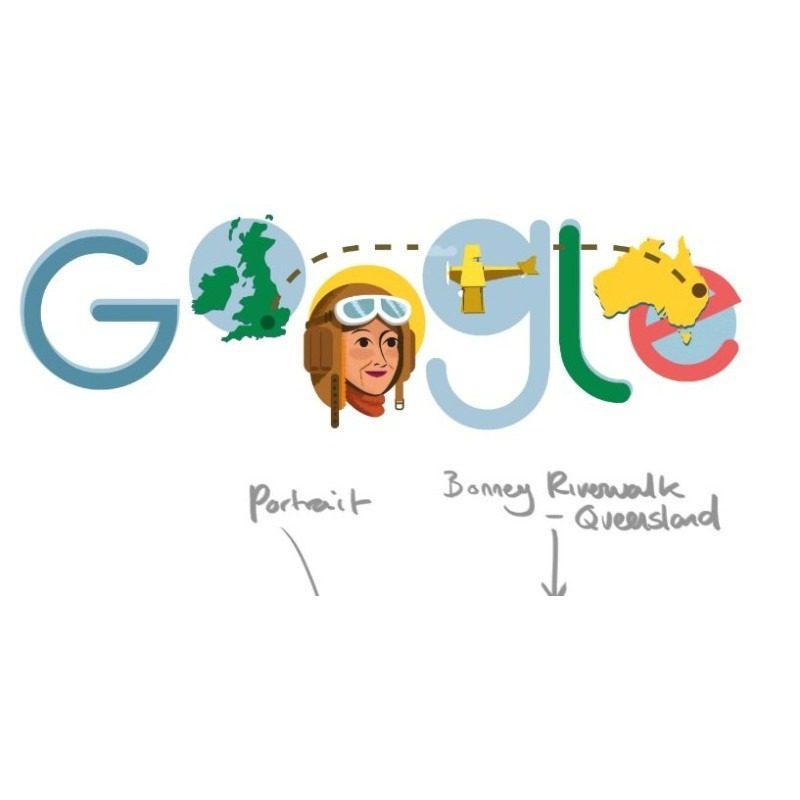 il doodle di google per maude lores bonney