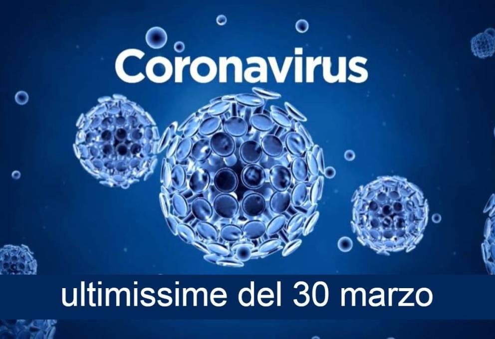 CORONAVIRUS – ULTIMISSIMI DATI AGGIORNATI DI OGGI 30 MARZO