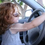 Wordless Wednesday – Pretending to Drive