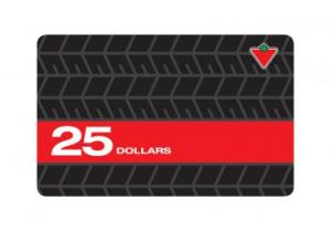 $25 Canadian Tire Gift Card