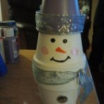 Clay Pot Crafts – The #Snowman Creations